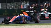 Debut Rio Haryanto di GP Australia tidak berakhir manis setelah pebalap 23 tahun itu gagal finis karena mobilnya mengalami masalah pada lap ke-17.(Manor Grand Prix Racing Ltd)