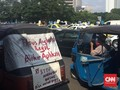 Ratusan Bajaj dan KWK Turut Demo Tolak Transportasi Online