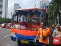 Jalan Sudirman-Thamrin Steril dari Metromini dan Kopaja