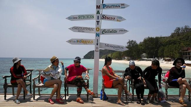 Selain pantai, kota lain di Thailand yang juga menarik perhatian para wisatawan adalah Bangkok. (REUTERS/Athit Perawongmetha)