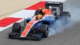 Rio Haryanto kemudian tampil di GP Bahrain pada 3 April lalu. Untuk kali pertama Rio berhasil finis setelah mengakhiri balapan di Sirkuit Sakhir pada posisi ke-17. (Manor Grand Prix Racing Ltd)