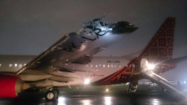 Batik Air Tunggu Penyelidikan Penyebab Tabrakan Pesawat