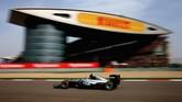 Nico Rosberg sangat dominan di balapan kali ini dan bahkan unggul 35 detik dari Vettel di tempat kedua. (Clive Mason/Getty Images)