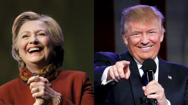 Pasca Rangkaian Insiden, Clinton dan Trump Saling Serang