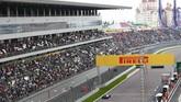 Saat membalap, Rio terpental keluar lintasan setelah terkena mobil Nico Hulkenberg yang berputar dan melintang di lintasan. (Dok. Manor Grand Prix Racing Ltd)