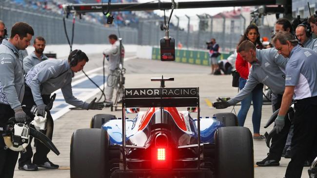 Dengan berbagai kendala tersebut, Rio yang menggunakan mesin Mercedes sukses mencatatkan speed trap tercepat -- pengukuran kecepatan di titik lintasan paling cepat di trek lurus. (Dok. Manor Grand Prix Racing Ltd)