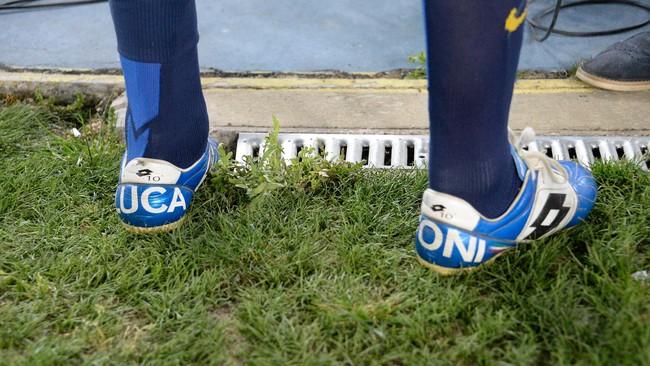 Penyerang yang membawa Italia juara Piala Dunia 2006 itu pun menyiapkan khusus untuk laga penutup kariernya. (Dino Panato/Getty Images)