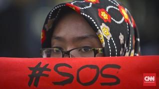 Aksi Siswa Ambon Tuntut UU Penghapusan Kekerasan Seksual