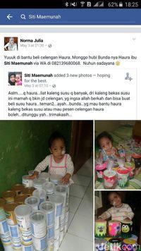 Postingan Siti di media sosial Facebook menjadi viral. Pemesanan celengan buatan Siti pun menjadi bertambah