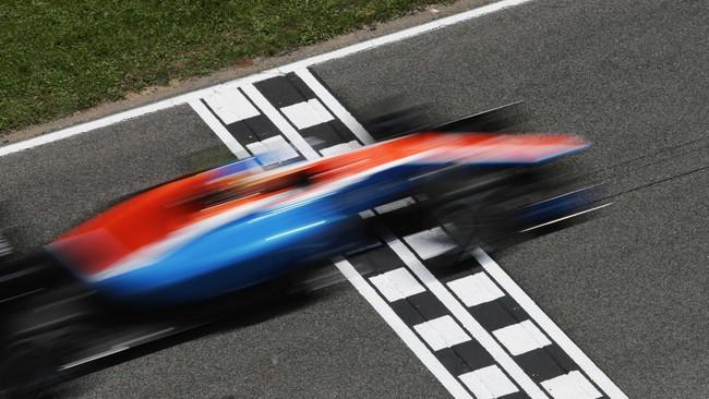 Pada seri kelima di Sirkuit Katalonia, Spanyol, 15 Mei lalu, Rio Haryanto finis di posisi buncit terpaut hingga satu lap dari Max Verstappen yang memenangi balapan. (Manor Grand Prix Racing Ltd)