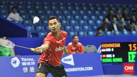 Potret Kemenangan Perdana Tim Thomas Indonesia