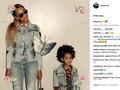 Gaya Rocker Gucci ala Beyonce dan 'Kembaran Kecilnya'