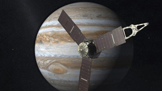 Wahana Antariksa Juno Temukan Gunung Berapi di Jupiter