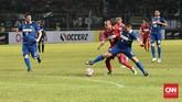 Pada akhirnya pertandingan dimenangkan oleh tim Calcio Legend dengan skor 4-0. (CNN Indonesia/Andry Novelino)