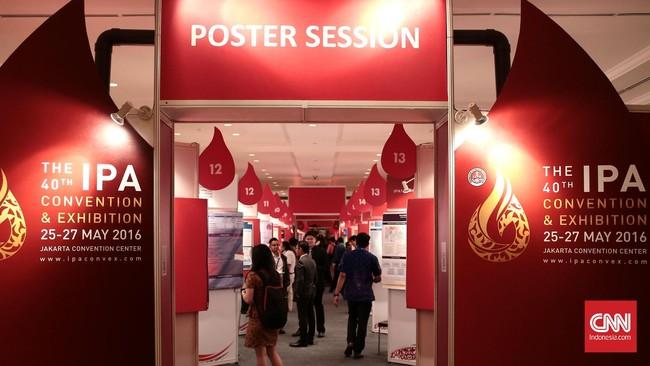 Suasana pameran The 40th IPA CONVEX 2016. Konvensi dan pameran migas terbesar di Asia Tenggara ini mengusung tema Shifting Paradigms in Indonesia, Supplying Energy in the New Reality.Foto: CNN Indonesia/Andry Novelino