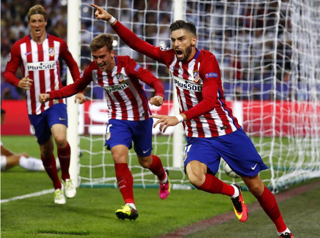 Atletico menyamakan kedudukan lewat gol Yannick Ferreira Carrasco menit ke-79. Kai Pfaffenbach/Reuters/detikFoto.