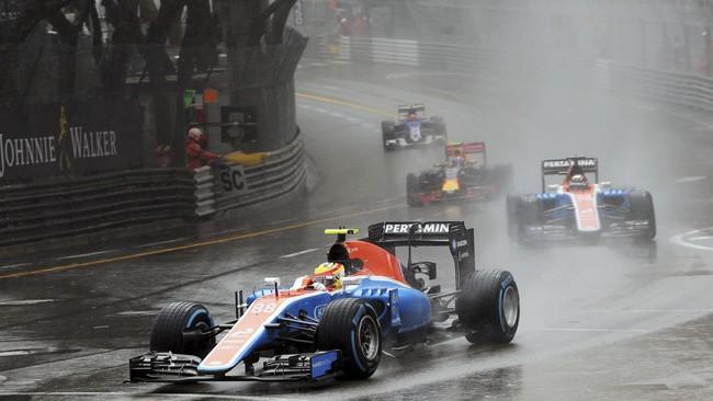 Rio Haryanto akhirnya finis di posisi ke-15 atau buncit di GP Monako terpaut hingga empat lap dari Lewis Hamilton yang memenangi balapan. (Dok. Manor Grand Prix Racing Ltd)