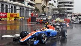 Aksi Rio Haryanto di GP Monako
