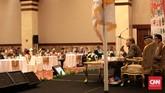 Sejumlah purnawirawan TNI hadir pada Simposium Nasional 'Mengamankan Pancasila dari Kebangkitan PKI dan Ideologi Lain'. (CNN Indonesia/Andry Novelino)