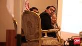 Wakil Ketua DPR dari Partai Gerindra, Fadli Zon, hadir dalam Simposium Nasional 'Mengamankan Pancasila dari Kebangkitan PKI dan Ideologi Lain'. (CNN Indonesia/Andry Novelino)