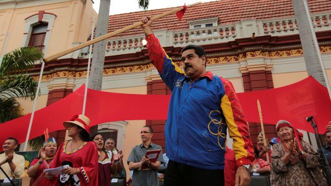 Dijatuhi Sanksi oleh AS, Maduro Sebut Trump Putus Asa