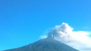 Gunung Kerinci Erupsi, Tinggi Abu Capai 800 Meter