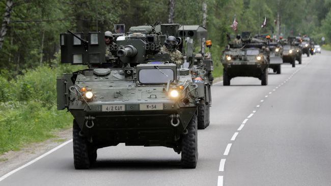 AS Kirim Tentara dan Alutsista untuk NATO di Perbatasan Rusia
