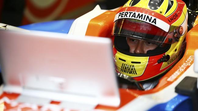 Rio Haryanto kembali finis di posisi terakhir setelah berada di posisi ke-19 pada balapan di GP Kanada, 12 Juni lalu.(Dok. Manor Grand Prix Racing Ltd)