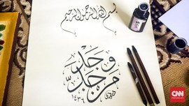 Seratusan Seniman <i>Ngabuburit</i> Buat Kaligrafi di Kudus