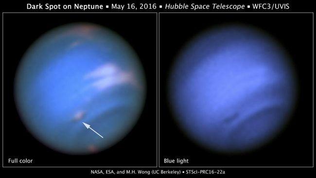 Teleskop Hubble Deteksi Bintik Hitam di Planet Neptunus