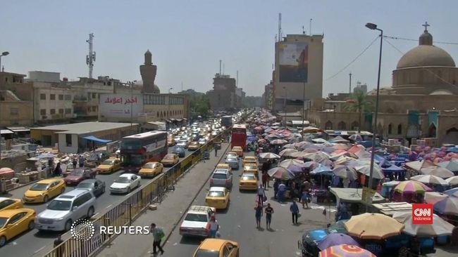 Meski Dilanda Duka, Warga Baghdad Tetap Rayakan Idul Fitri