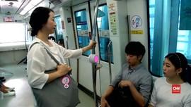 Cara Unik Wanita Hamil Korea Mendapat Kursi di Kereta