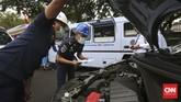 Sebelumnya, GoCar, Grab, dan Uber mengaku siap memenuhi regulasi yang berlaku dan melakukan diskusi secara intens dengan pemerintah. (CNN Indonesia/Adhi Wicaksono.)