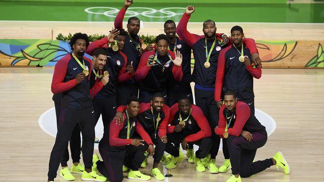 Timnas Bola Basket AS Pertahankan Emas Olimpiade