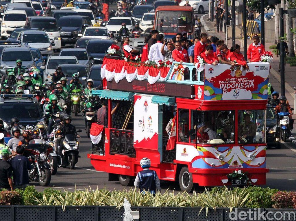 Di Istana Negara, nantinya rombongan atlet akan disambut oleh Presiden Joko Widodo.