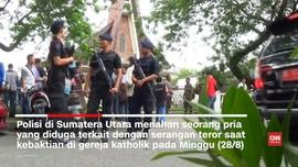 Saksi Mata Sebut Penyerang Gereja Medan Bukan Jemaat