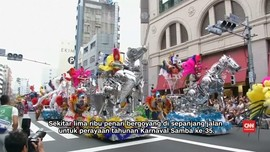 Ribuan Warga Jepang Menari Samba di Tokyo