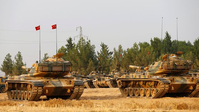 Tentara Turki Bertempur Hebat dengan Kelompok Kurdi di Suriah