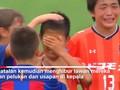 Aksi Sportif Tim Sepak Bola Anak Barcelona Viral di Medsos