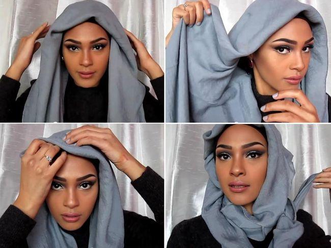 Tutorial Hijab dengan Aksen Layer untuk Datang ke Pesta