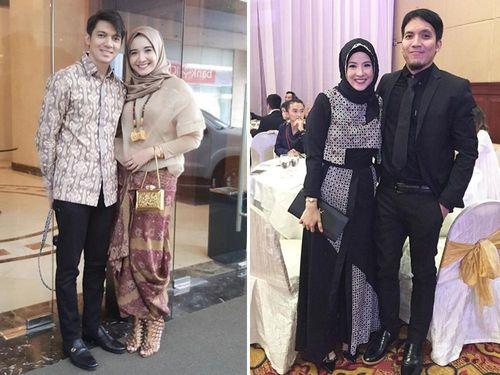 Foto: Tampil Serasi dengan Pasangan Saat Kondangan Ala Selebriti Berhijab 1