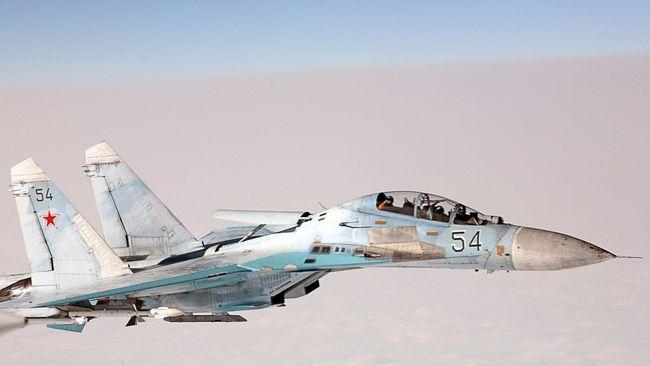 Sukhoi Rusia Hampir Serempet Pesawat Pengintai AS