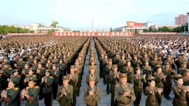 Pawai Korea Utara Rayakan Uji Coba Nuklir