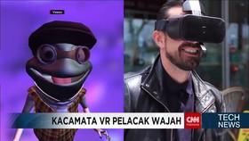 Kacamata Virtual Reality yang Dapat Melacak Pergerakan Wajah