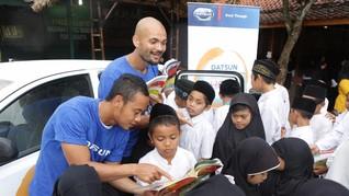 Kolaborasi Datsun-Persib Bawa Keceriaan Anak di Purwakarta