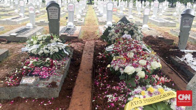 Herawati Diah Dikebumikan di Taman Makam Pahlawan Kalibata