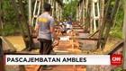 Warga Pangandaran Swadaya Bangun Jembatan Darurat