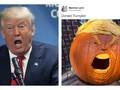 Trumpkin, Ukiran Seram Wajah Donald Trump di Labu Halloween