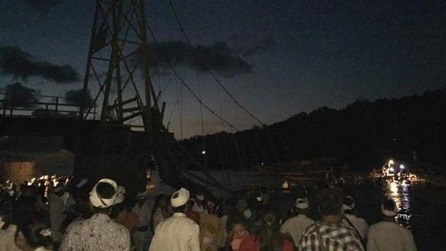 Kronologi Robohnya 'Jembatan Cinta' Nusa Lembongan Bali