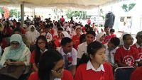 Acara ini dihadiri oleh kurang lebih 600 siswa SMA dan sederajat dari seluruh SMA di Kota Batam. (Foto: Reza/detikHealth)